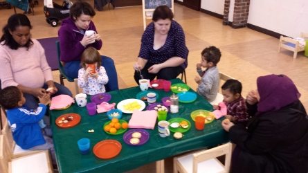 Toddler group snack time tiny tots