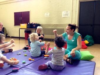 toddler group singing time