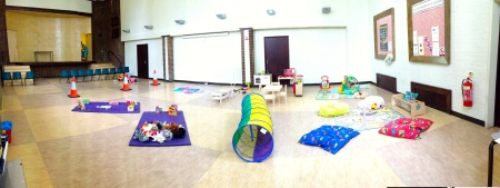 Toddler group space in hall
